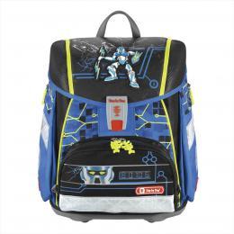 Školní aktovka - 4-dílný set, Step by Step Flash blikaèka Robot, certifikát AGR