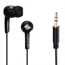 Hama sluchátka Basic4Music, silikonové špunty, èerná