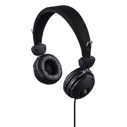 Hama on-ear sluchátka s mikrofonem Fun4Phone, èerná