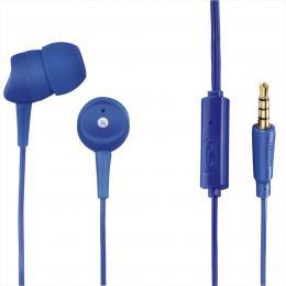 Hama sluchátka s mikrofonem Basic4Phone, špunty, modrá