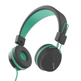 Hama on-ear sluchátka s mikrofonem Next, šedá/zelená