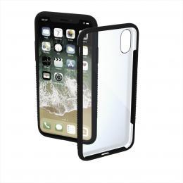 Hama Frame, kryt pro Apple iPhone X/Xs, prùhledný/èerný