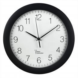 Hama PG-300, nástìnné hodiny øízené rádiovým signálem, èerné - zvìtšit obrázek