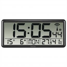 Hama Jumbo, digitální nástìnné hodiny, øízené rádiovým signálem, èerné