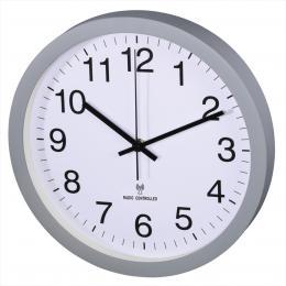 Hama PG-300, nástìnné hodiny øízené rádiovým signálem, tichý chod, šedé