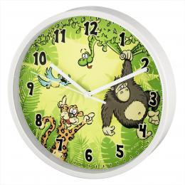 Hama Jungle dìtské nástìnné hodiny, prùmìr 22,5 cm, tichý chod - zvìtšit obrázek