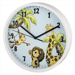 Hama Safari dìtské nástìnné hodiny, prùmìr 22,5 cm, tichý chod