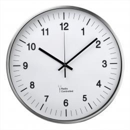 Hama nástìnné hodiny AG-340, øízené rádiovým signálem, støíbrné - zvìtšit obrázek