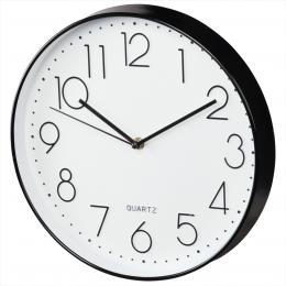 Hama Elegance nástìnné hodiny, prùmìr 30 cm, tichý chod, bílé/èerné - zvìtšit obrázek