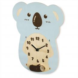 Hama Koala, dìtské nástìnné hodiny, døevìné, tichý chod