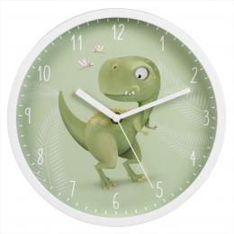 Hama Happy Dino, dìtské nástìnné hodiny, prùmìr 25 cm, tichý chod