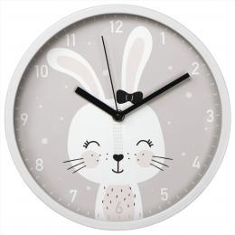 Hama Lovely Bunny, dìtské nástìnné hodiny, prùmìr 25 cm, tichý chod