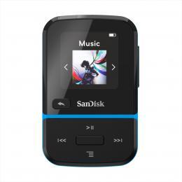 SanDisk MP3 Clip Sport Go2 16 GB, modrá