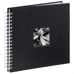 Hama album klasické spirálové FINE ART 28x24 cm, 50 stran, èerná, bílé listy