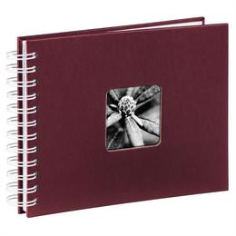 Hama album klasické spirálové FINE ART 24x17 cm, 50 stran, bordó, bílé listy