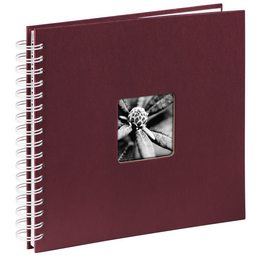 Hama album klasické spirálové FINE ART 28x24 cm, 50 stran, bordó, bílé listy