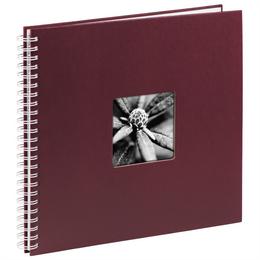 Hama album klasické spirálové FINE ART 36x32 cm, 50 stran, bordó, bílé listy