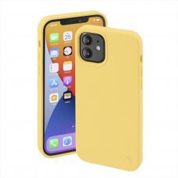 Hama MagCase Finest Feel PRO, kryt pro Apple iPhone 12/12 Pro, žlutý