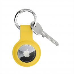 Hama Finest Feel, ochrana pro Apple AirTag, silikonová, žlutá