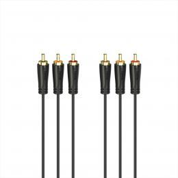 Hama AV kabel 3cinch 1,5 m