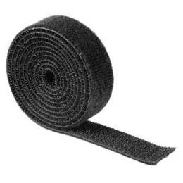 Detail produktu - Hama univerzální stahovací páska, suchý zip, 1 m, černá