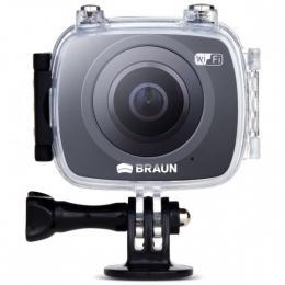 Detail produktu - Braun panoramatická videokamera Champion 360, WiFi, s vodotěsným pouzdrem