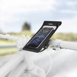 Hama Slim, univerzální pouzdro na mobil (8x16 cm), upevnìní na øídítka kola, odpuzující vodu - zvìtšit obrázek