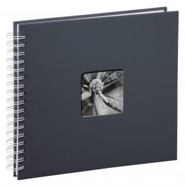 Hama album klasické spirálové FINE ART 28x24 cm, 50 stran, šedé, bílé listy