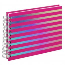 Hama album klasické spirálové FLASHY 24x17 cm, 50 stran, rùžová, bílé listy