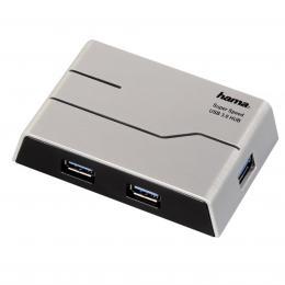 Hama USB 3.0 Hub 1 4, s napájením, èerný