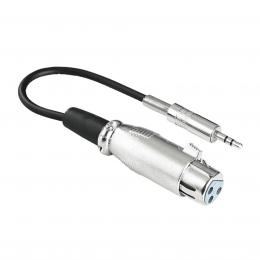 Hama audio redukce XLR zásuvka - jack 3,5mm stereo vidlice