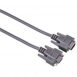 Detail produktu - Hama VGA prodlužovací kabel, 15pin., 1.8m, šedý