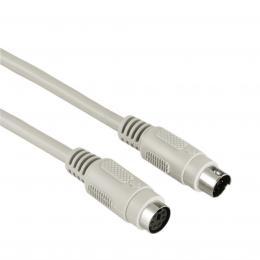 Detail produktu - Hama prodlužovací kabel PS/2, mini-DIN 6pin, 2m, šedý