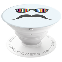 PopSockets Original PopGrip, Mustache Rainbow