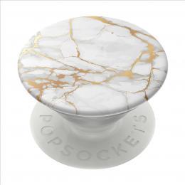 PopSockets PopGrip Gen.2, Gold Lutz Marble, bílo-zlatý mramor
