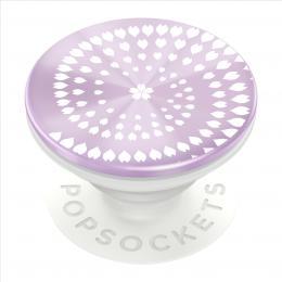 PopSockets PopGrip Gen.2, Backspin Infinite Blossom, otáèecí (kulièkové ložisko), fialový/bílý