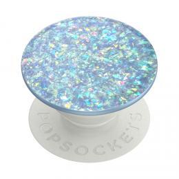 PopSockets PopGrip Gen.2, Iridescent Confetti Ice Blue, mìòavé tøpytky zalité v epoxidové pryskyøici