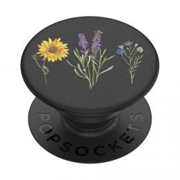 PopSockets PopGrip Gen.2, Vintage Garden Black, kvìtiny na èerném podkladu - zvìtšit obrázek