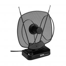 Detail produktu - Hama aktivní pokojová anténa VHF/UHF/FM, 40dB, černá