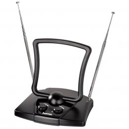 Detail produktu - Hama aktivní pokojová anténa UHF/VHF/FM, 44dB, 2 zesilovače