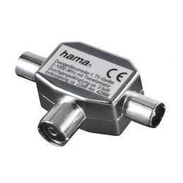 Detail produktu - Hama rozbočovač pro TV, koaxiální zásuvka - 2 koaxiální vidlice, sáček