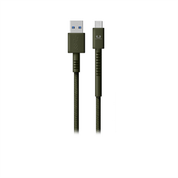 FRESH N REBEL Fabriq USB Type-C kabel, 1,5 m, Army, vojensky zelený