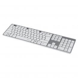 Detail produktu - Hama klávesnice Rossano, bíla/stříbrná