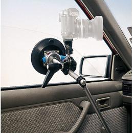 Manfrotto  241V Pøísavný držák na sklo s tyèkou a svorkou s hlavou, nosnost do 3 kg
