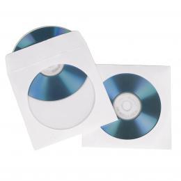 Detail produktu - Hama ochranný obal pro CD/DVD, 25ks/bal, bílý, balení krabička na zavěšení