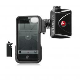 Detail produktu - Manfrotto MKLKLYP0, KLYP iPhone case   ML240, stativový obal na iPhone 4/4S   LED světlo 240