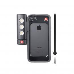 Detail produktu - Manfrotto MKLKLYP5S, BUMPER   LED světlo pro iPhone 5/5s, barva černá