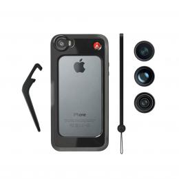 Manfrotto MKOKLYP5S, BUMPER  3ks objektivù pro iPhone 5/5s, barva èerná