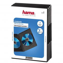 Detail produktu - Hama DVD obal, double, 3ks/bal., barva černá