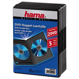 Hama DVD obal, double, 5ks/bal., barva èerná